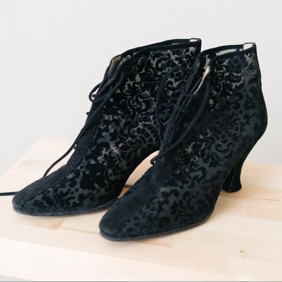 f569476c23c Yves Saint Laurent Shoes | Burnout Velvet Paisley Booties | Poshmark